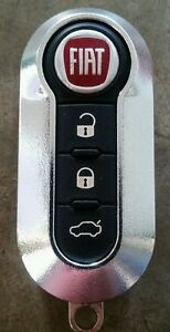 Chrome Silver Case Only For Fiat 500 3 Button Remote Flip Key Fob Ltqf12am433tx