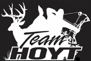 Team Hoyt Archery Bow And Arrow Deer Antler Hunting Country Living Decal