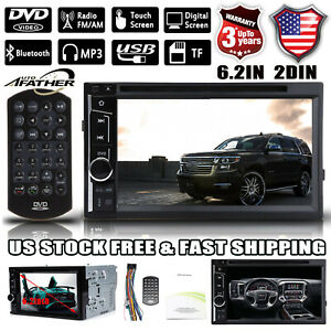 Us 6 2 2 Din Stereo Car Dvd Radio Bluetooth Touchscreen For Chevy Malibu Tahoe