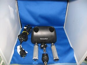 Welch Allyn 3 5v Diagnostic Desk Set 25020a Otoscope 11720 Opthma 7114x Charger