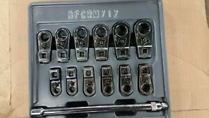 Blue Point Bfcrm 712 12pc 3 8 Drive Metric Ratcheting Crowfoot Wrench Set