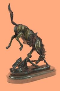 Hand Made Pony By Frederic Remington Bronze Statue Sculpture Western Americana