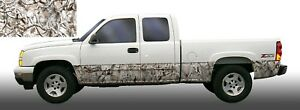 Obliteration Snow Buck Camouflage Rocker Panel Graphic Decal Wrap Kit Truck Suv