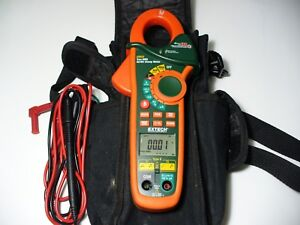 Extech Thermometer Ex623 Electric Clamp Meter In A Carry Bag