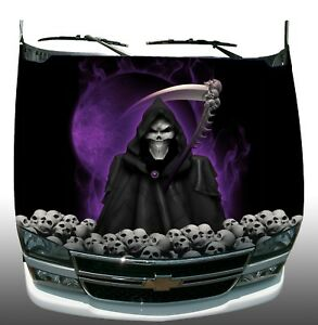 Grim Reaper Skulls Vinyl Graphic Decal Hood Wrap Car Truck Trailer Semi