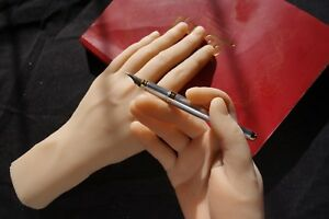 Pose able Pair Of Male Silicone Mannequin Hands Display Model Prop Lifesize