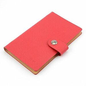 Business Pu Leather Cards Organizer Book 240 Cell red Soft Strong Perfect Size