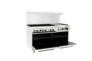 Ato 6b24g Gas Range 25 000 Btu hr 24 Griddle 6 Burners