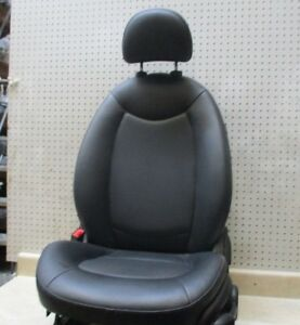 2014 Bmw Mini Cooper Driver Left Lh Front Black Leather Seat With Headrest Oem