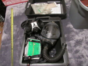 Vintage Msa Gas Mask Type Gmd Mask W Canister Extras Used With Case Medium