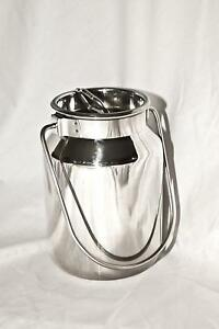2 Qt Stainless Steel Milk Can Tote 2 Qt
