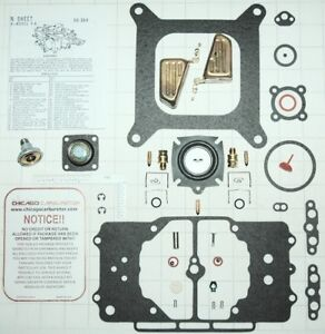 1958 69 Ultimate Carb Kit w diaphragm Floats Ford Mustang Motorcraft 4100