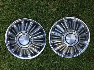 Ford Fairlane 14 Hub Caps Ranchero Falcon Mustang Galaxies Oem Maverick Sprint