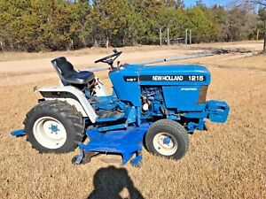 1996 New Holland 1215 Compact Tractor W 60 Mid Mount Mower And 4 Box Blade