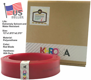 Silk Screen Printing Squeegee Polyurethane Blade Duro 60a 72 Red