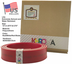 Silk Screen Printing Squeegee Polyurethane Blade Duro 60 80 60a 72 Red