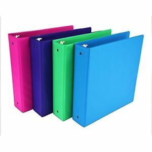 Samsill Fashion Color 3 Ring Storage Binders 2 Inch Round Assorted Colors May 4