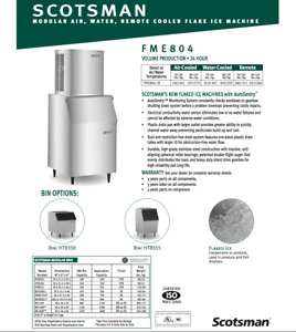 Fme804rs 1 Erc101 1 Scotsman Flaker Ice Maker Package