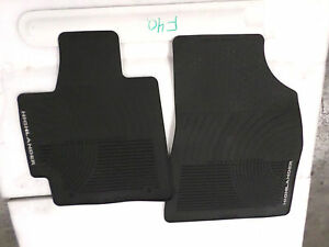 Nice Oem All Weather Floor Mats Pair Toyota Highlander Black 08 13 Fronts