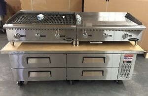 Chef Base 76 Refrigerated Stand Equipment Table 2 Drawer Package Grill