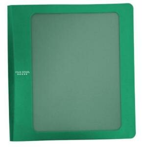 Five Star Green 1 5 3 ring Customizable Plastic Binder Office School Strong