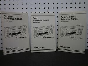 Snap On Seventh General Motors Chrysler Ford Reference Manual Scanner Zmt2500