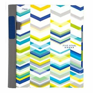 Five Star Advance Chevron 2 subject College Ruled 8 5x11 Spiral Notebook Quic