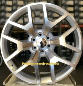 4 New Gmc Sierra 24x10 6x139 7 30 Silver Machine Wheels Chevrolet Silverado