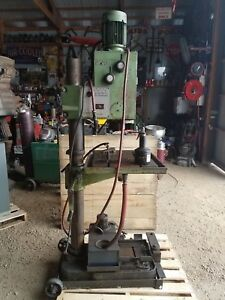 Very Nice 3ph 440 Solberga 24 Geared Head Floor Drill Press W Power Feed