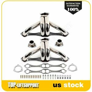Stainless Steel Ss Sport Exhaust Header Sbc For Chevy Small Block Hugger V8 8cyl