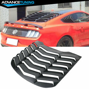 Fits 15 20 Ford Mustang Rear Abs Window Louvers Cover Sun Shade Vent
