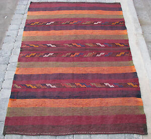 Turkish Old Anatolian Cicim Embroidery Kilim Rug From Yahyal 3 5 3 X 5 5