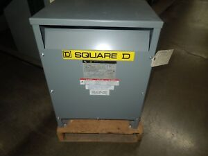 Square D 15t145hdit 15kva 460 460y 265v General Purpose Transformer Surplus
