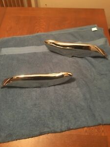 1964 65 Ford Thunderbird Front Bumper Guards Rechromed Very Nice