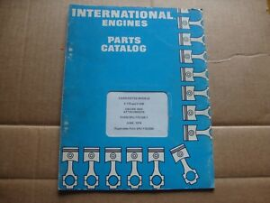 International Harvester C 175 C 200 Carbureted Engine Parts Catalog Manual 6 74