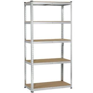 Heavy Duty Shelf Garage Steel Metal Storage 5 Level Adjustable Shelves Rack Unit