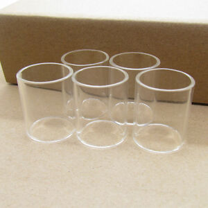 Pk Of 5 Pyrex Glass Replacement Tube For Big Baby Beast Rba On Nrg 5ml