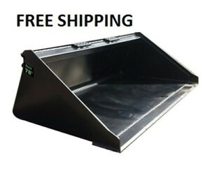 New 78 Powder Coated Smooth Bucket For Skid Steer Loader Free Shipping