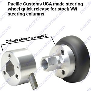Steering Wheel Quick Release Disconnect For 1960 To 1973 Vw Bug To 3 Bolt Wheel