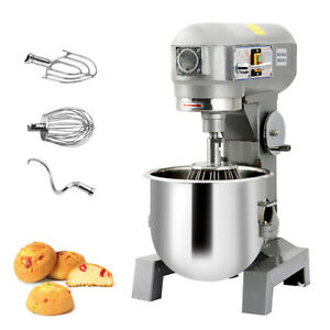 Three Speed 15qt Commercial Dough Food Mixer Gear Driven Pizza Bakery 580w