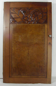 Wood Great Panel Door Art Deco 1930 Walnut N 1