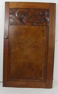Wood Great Panel Door Art Deco 1930 Walnut N 2