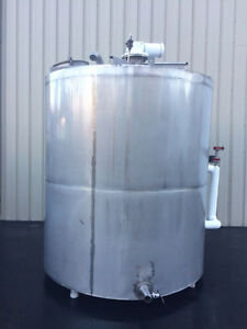 Keller 2800 Gallon Stainless Steel Jacketed Processor Tank Foodgrade