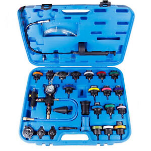 27pc Radiator Pressure Tester Kit Coolant Vacuum Purge Refill With Adapters