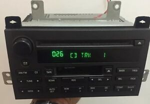 03 04 05 Lincoln Town Car Rds Amfm Radio Tape Cd Player 3w1t18c868ak Oem Stereo
