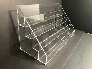 Acrylic Card Holders Greeting Card Display Rack Counter Top Display With 4 Tier