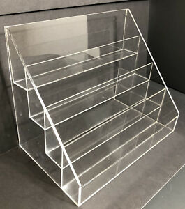 Acrylic Rack Greeting Card Display Rack Counter Top Display With 4 Tier New