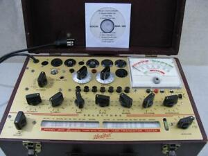 Hickok 800 Mutual Conductance Tube Tester Calibrated Specs Near Perfect