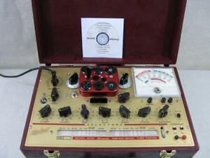 Hickok 6000 Mutual Conductance Tube Tester Calibrated Voltages Near Perfect