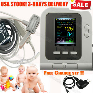 Infant Pediatric Digital Blood Pressure Monitor Led Monitor Sw Free Charger Set